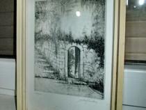 4208-I-Tablou Jef van Griecken-J.Milio grafica veche-creion
