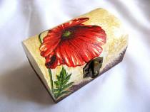 Cutie din lemn natural - maci-27811