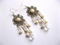 Cercei perle naturale si cristale 27755
