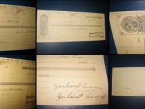 2 Polite bancare- Cambii maghiare-1919 Arad. Filigram
