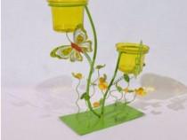 Suport 2 lumanari - forma fluture