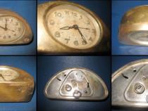 Ceas vechi Art Deco Junghans masa alama semicircular nefunct