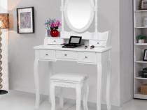 SEA119 - Set Masa alba toaleta cosmetica machiaj oglinda