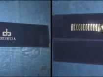 Husa Helvetia albastra pentru ceasuri si bijuterii.