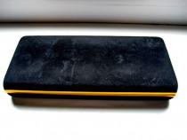 Caseta bijuterii-ceasuri-stilouri-pixuri matase metal aurit