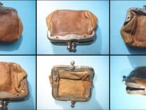 Mini Portofel din piele vechi de colectie anii dupa 1900.
