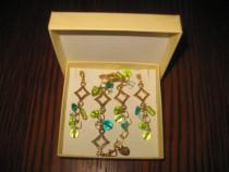 Set bijuterii MileFiori Italia-Bratara cu Cercei placate aur