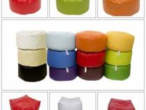 Taburet puf - cub sau cilindru – bean bag - nou -
