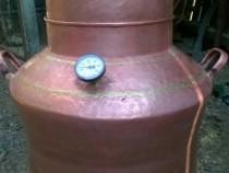Cazan cupru cu termometru