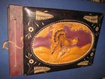 Album foto tema fazan vanatoare coperta lemn.