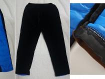 Pantaloni fas & polar albastru electric/negru, 5.5-7 ani