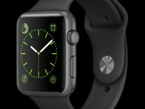 Apple Watch S1 42mm Space Grey - Black Sport Band