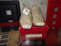 Pantofi barbatesti de piele -bej-mr: 44. noi