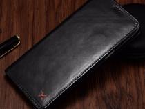Husa piele xoomz iphone 7 plus magnetica slot carduri, negru