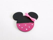 Marturii botez handmade - Minnie Mouse cu magnet