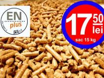Peleti lemn premium certificat enplus a1