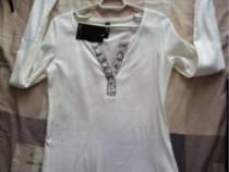 Bluza Takko, albă, noua cu eticheta, L, pretabil si la M.