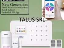 Sistem alarma wireless kerui cu modul gsm/ android / ios