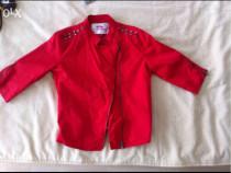 Jacheta roșie, cu fermoare si tinte Lefties, S, noua