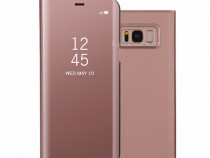 Flip Case Oglinda Rose Gold, Roz - Samsung S8 S8+