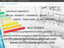 Certificat energetic Bacau ,Comanesti ,Moinesti