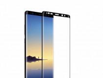 Samsung Note 8 - Folie Sticla Securizata Neagra, Transparent