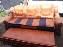 Canapea extensibila-culoare coniac frumoasa*