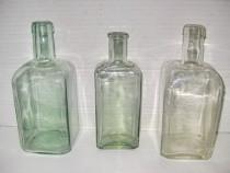3 Sticle vechi Farmacie tesite st. buna.