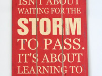 Tablou vintage cu mesaj motivational - 60 x 30 cm - Mare-Nou