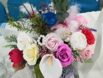 Aranjamente flori hartie nunta