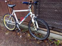 Bicicleta full aluminiu, 24 viteze, roti duble