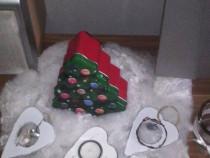 Aranjament Crăciun cu accesorii decorative de Crăciun,nou