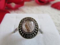 Inel de argint cu cuart rutilat