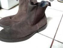 Ghete pantofi imblaniti piele intoarsa 41 - 42