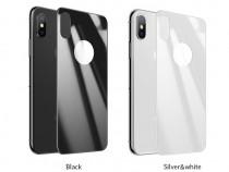 Folie 3D sticla securizata pentru spate iPhone X, Hoco 0.3mm