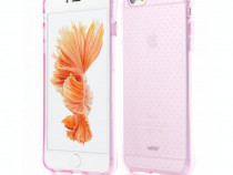 Husa silicon apple iphone 6 6s anti – shock clear pink