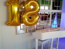Baloane cifre folie 102 cm culoarea Gold si Silver