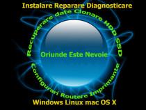 Instalare Reparare Windows XP-7-8-10 macOS X Recuperare date