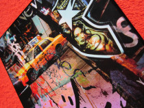 Tablou New York Taxi Driver-arta contemporană-Bouteiller