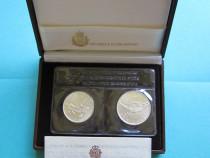 Set monede comemorative argint - san marino, 1988 - fdc
