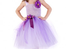 Rochita serbare Viorea, rochite floare, costum violet,rochii