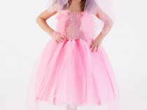 Rochita serbare Zana Florilor,costum roz,rochite printese