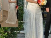 Rochie de mireasă chiar si cu pantofi si voal
