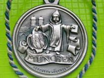 8510-Munchen Deschler 90 Medalie rara bronz argintat.