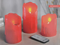 Set lumanari decorative electrice, cu telecomanda/Veioza