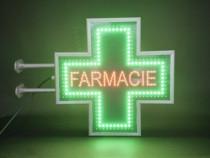 Cruce farmacie LED fata dubla 60 x 60 cm pentru EXTERIOR
