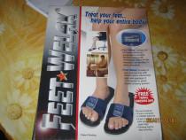 Feet welax,papuci masaj terapeutic,produs nou,ambalaj