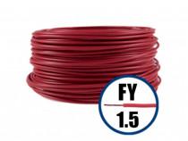 Conductor FY 1.5 - 100 M - ROSU - Cablu curent cupru-H07V-U