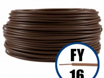 Conductor fy 16 - 100m-maro-cablu curent cupru-h07v-u