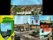 4 broşuri turistice vintage din 4 judeţe